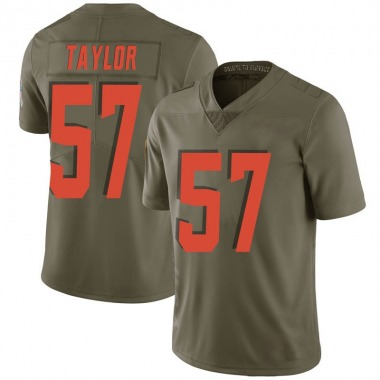 Men's Nike Cleveland Browns Adarius Taylor 2017 Salute to Service Jersey - Green Limited