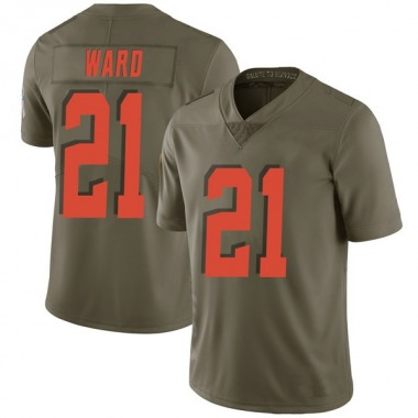 Men's Nike Cleveland Browns Denzel Ward 2017 Salute to Service Jersey - Green Limited