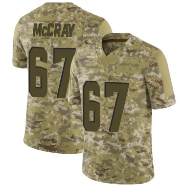 Men's Nike Cleveland Browns Justin McCray 2018 Salute to Service Jersey - Camo Limited