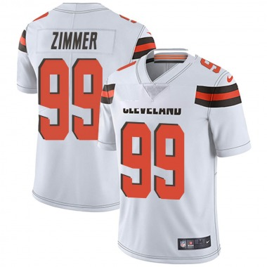 Men's Nike Cleveland Browns Justin Zimmer Vapor Untouchable Jersey - White Limited
