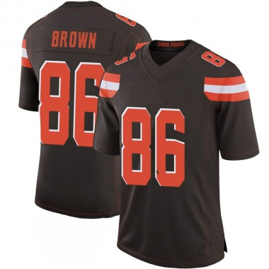 Men's Nike Cleveland Browns Pharaoh Brown 100th Vapor Jersey - Brown Limited