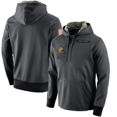 Men's Nike Cleveland Browns Salute to Service Player Performance Hoodie - Anthracite
