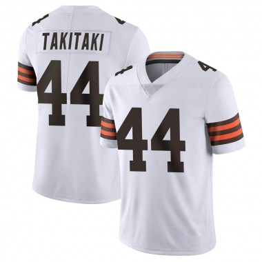 Men's Nike Cleveland Browns Sione Takitaki Vapor Untouchable Jersey - White Limited