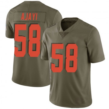 Men's Nike Cleveland Browns Solomon Ajayi 2017 Salute to Service Jersey - Green Limited