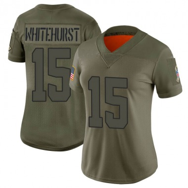 Women's Nike Cleveland Browns Charlie Whitehurst 2019 Salute to Service Jersey - Camo Limited