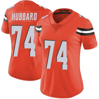 Women's Nike Cleveland Browns Chris Hubbard Alternate Vapor Untouchable Jersey - Orange Limited