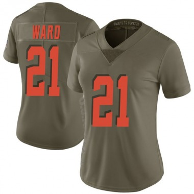Women's Nike Cleveland Browns Denzel Ward 2017 Salute to Service Jersey - Green Limited