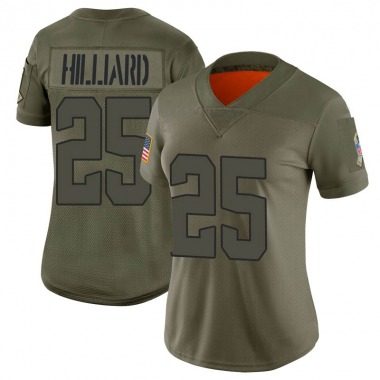 Women's Nike Cleveland Browns Dontrell Hilliard 2019 Salute to Service Jersey - Camo Limited
