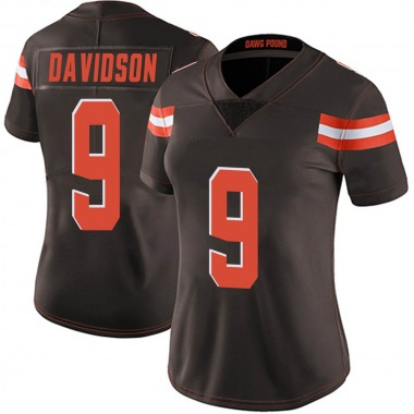 Women's Nike Cleveland Browns Kevin Davidson Team Color Vapor Untouchable Jersey - Brown Limited