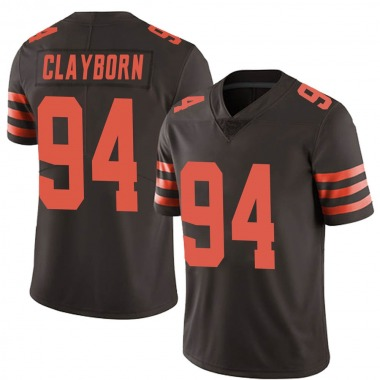 Youth Nike Cleveland Browns Adrian Clayborn Color Rush Jersey - Brown Limited