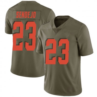Youth Nike Cleveland Browns Andrew Sendejo 2017 Salute to Service Jersey - Green Limited