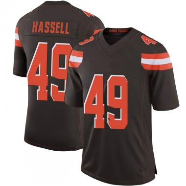 Youth Nike Cleveland Browns J.T. Hassell 100th Vapor Jersey - Brown Limited