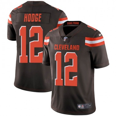 Youth Nike Cleveland Browns KhaDarel Hodge Team Color Vapor Untouchable Jersey - Brown Limited