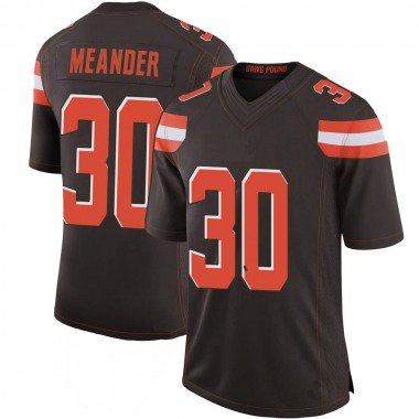 Youth Nike Cleveland Browns Montrel Meander 100th Vapor Jersey - Brown Limited
