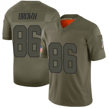 Youth Nike Cleveland Browns Pharaoh Brown 2019 Salute to Service Jersey - Camo Limited