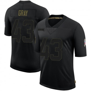 Youth Nike Cleveland Browns Trayone Gray 2020 Salute To Service Jersey - Black Limited